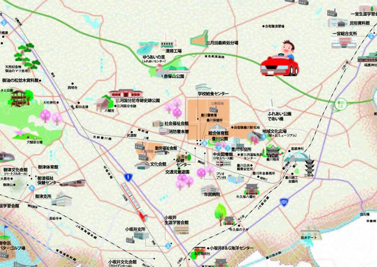 豊川市 とよかわイラストマップ...